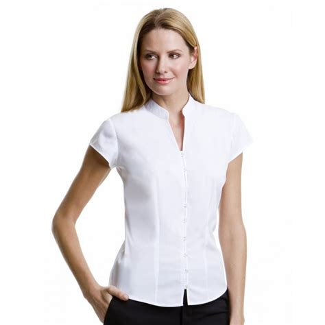 S Sleeve Blouses Uk by Kustom Kit Kk727 Continental Blouse Mandarin