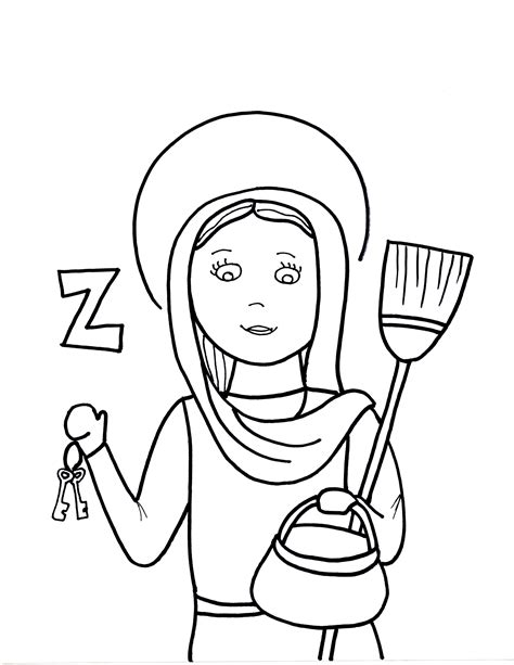 free coloring pages of mother teresa