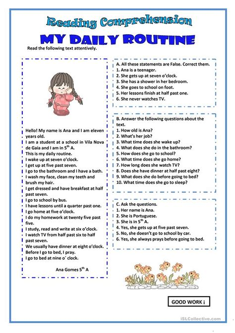 my reading my daily routine worksheet free esl printable worksheets