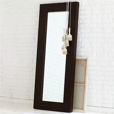 West Elm Chunky Wood Bed Frame Chunky Wood Floor Mirror Chocolate West Elm