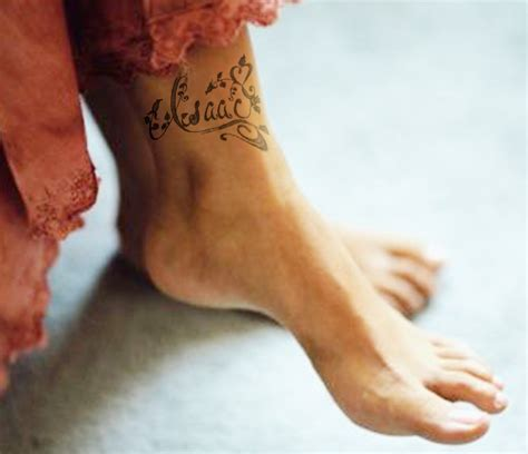 ankle tattoo designs with kids names fix ankle on anklet tattoos kid names