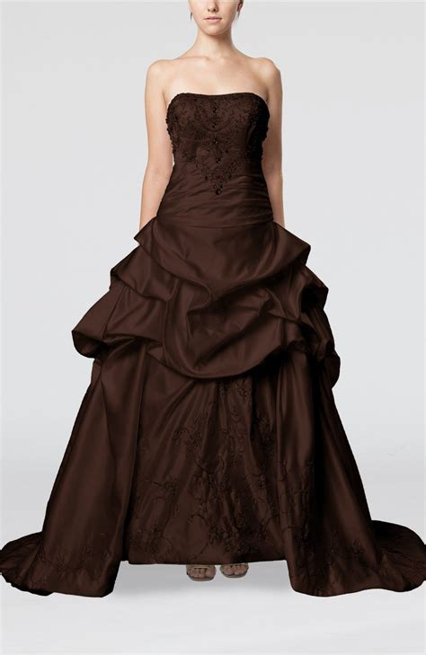 Brown Bridal by Chocolate Brown Wedding Dress Gorgeous Church Strapless