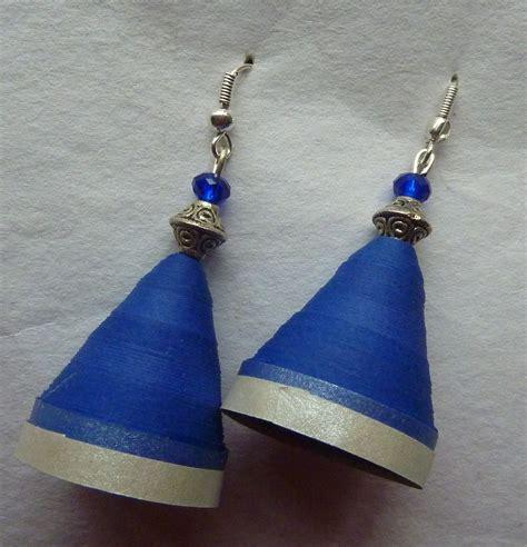 Paper Jhumka - paper jhumka blue silver shopping