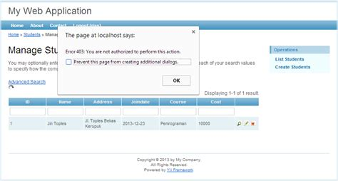 online tutorial for yii framework membuat otorisasi halaman pada yii framework jin toples