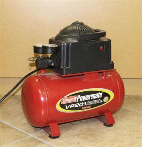 coleman powermate vp air compressor  gallon tank  psi ebay