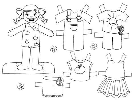 imagenes para colorear y recortar dibujo colorear farmgirl doll dibujo de recortables para