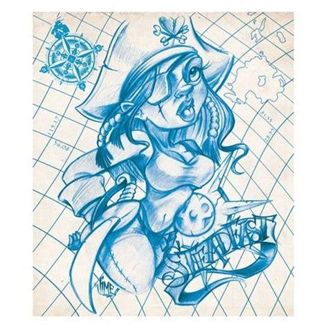 new school girl tattoo designs pirate girl by jime litwalk tattoo art print new school