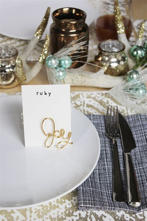 diy place card holders easy wire place card holder diy a beautiful mess