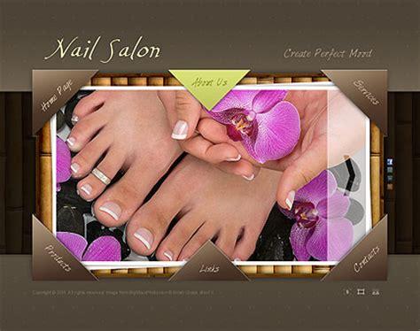 Nail Salon Flash Website Template Best Website Templates Nail Salon Website Template Free