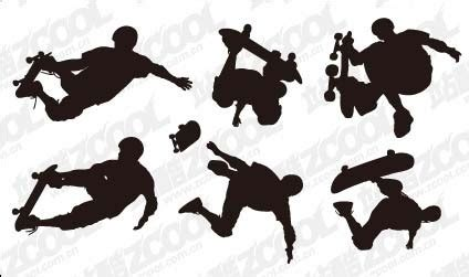 format eps figure bodybuilding action figure silhouette vector material free