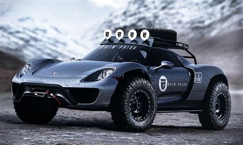 concept off road truck a 608 horsepower porsche 918 spyder off road concept