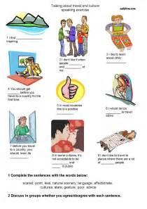 travel culture vocabulary speaking exercise