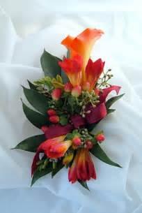 Wrist Corsage Corsage Wristlet Calla Lily Freesia Orange Burgundy Fall Flickr