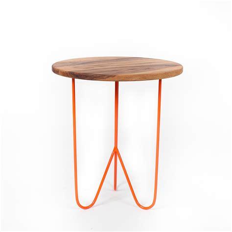 Orange Side Table Black Walnut Side Table Orange Woolsey Furniture Touch Of Modern