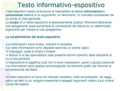 testo espositivo esempio testo informativo espositivo ppt scaricare