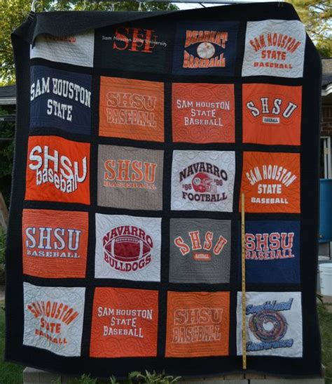 T Shirt Quilt Houston by Sam Houston State Tshirt Quilt By