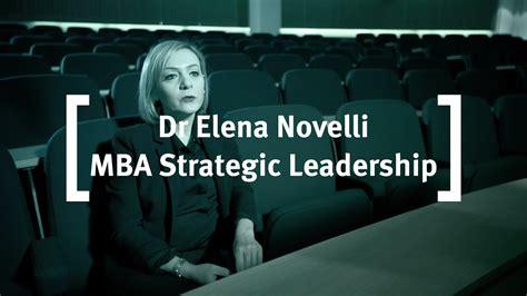 Mba Strategic Leadership by Dr Novelli Associate Professor In Strategy Mba