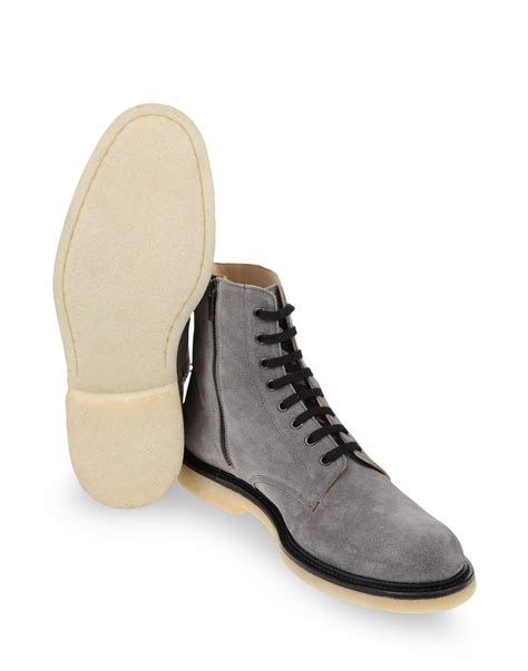 by common projects boots common projects ankle boots in gray for grey lyst