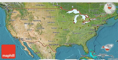map usa states satellite satellite 3d map of united states
