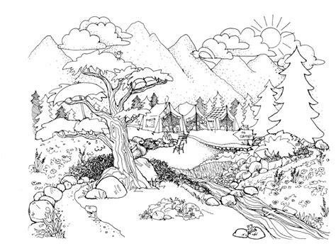 printable coloring pages nature scenes coloring pages nature scenes coloring pages for adults