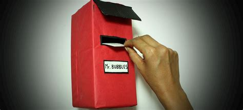 How To Make Letter Box With Paper - diy how to build a letterbox out of cardboard