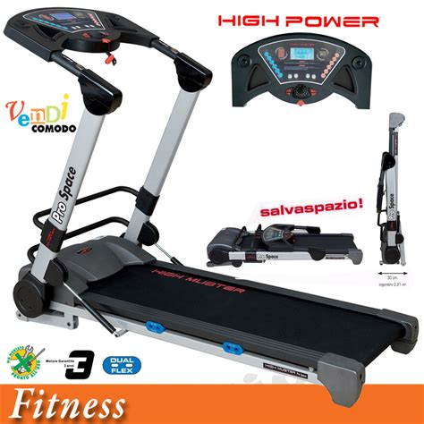 tappeto per correre usato tapis roulant elettrico my space high power muster tappeto