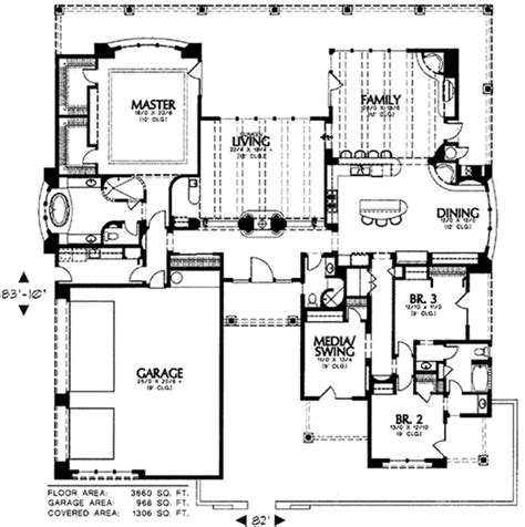 southwestern house plans adobe southwestern style house plan 3 beds 3 baths 3660 sq ft plan 4 215