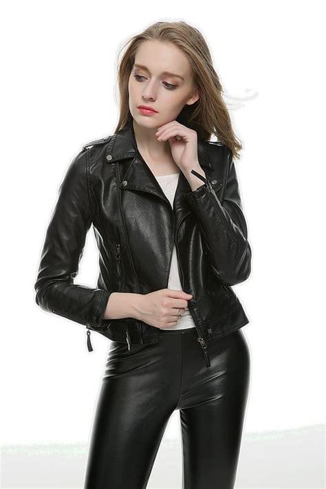 fashion pu leather jacket women jacket coat slim