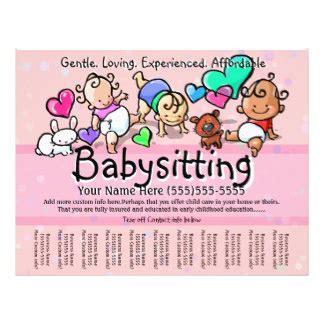 Day Care Flyers Programs Zazzle Babysitting Flyer Template Docs