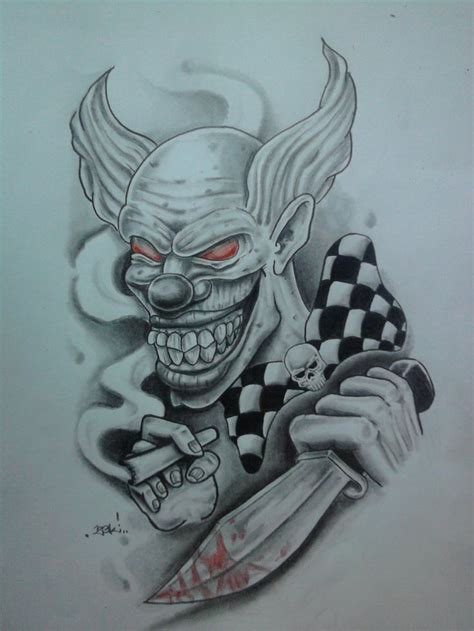 clown tattoo by unibody on deviantart evil art killer clown by karlinoboy on deviantart