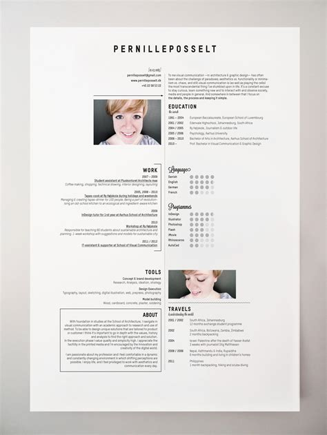 layout a cv 10 interesting simple resume exles you would love to