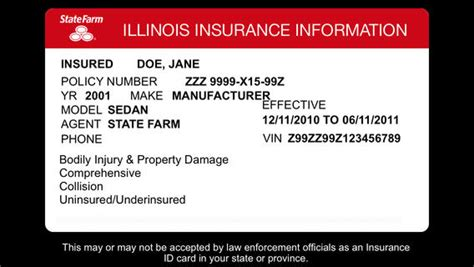 State Farm Insurance Card Affordable Car Insurance State Farm Insurance Card Template