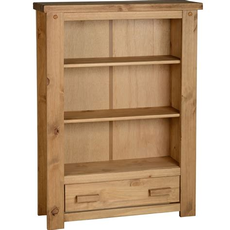 wilko paulo 1 drawer bookcase pine goodglance