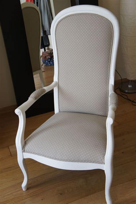 Fauteuil Voltaire gris/pois blancs   fauteuil voltaire