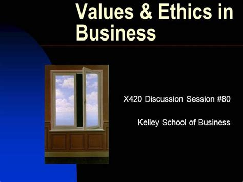 Business Ethics Ppt For Mba by Business Ethics Authorstream