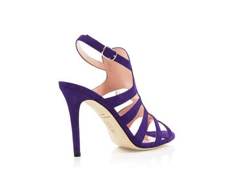 Sepatu Slip On Wedges Suede 02 sjp by zofia suede caged high heel sandals in purple lyst