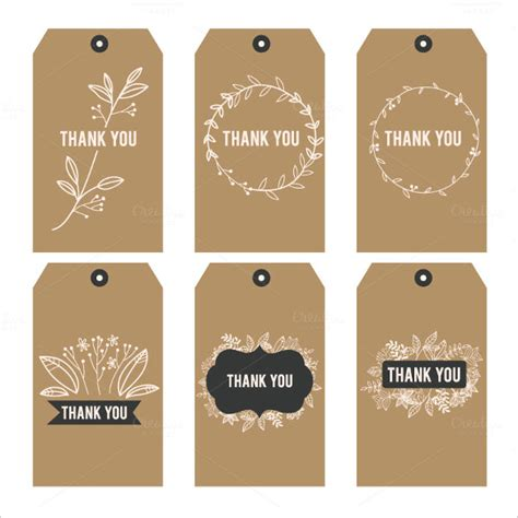 Free Printable Thank You Tags Template favor tag template 26 free printable vector eps psd