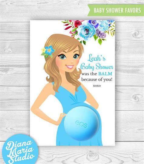 Eos Birthday Card Template by Baby Shower Eos Lip Balm Favor Card Printable Favor Template