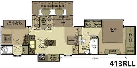 2 bedroom 5th wheel floor plans 5th wheel 2 bathroom floor plans floorplan rvs