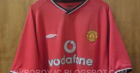 Jersey Mu Original Home 2000 2002 Vodafone Size Mint my jersey collection manchester united 2000 2002 home jersey