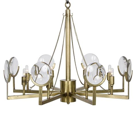 Chandelier Frames Abigale Modern Antique Brass Chandelier Frame Mirrored Pendant Kathy Kuo Home