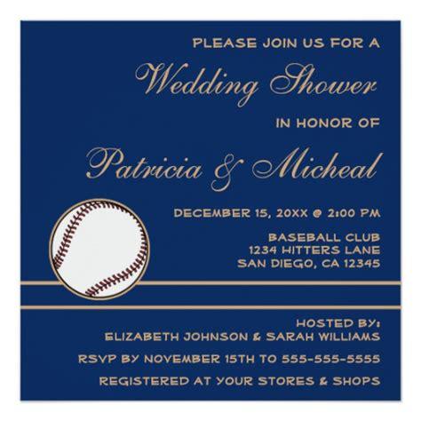 baseball themed bridal shower invitations baseball player fan wedding shower blue invitation