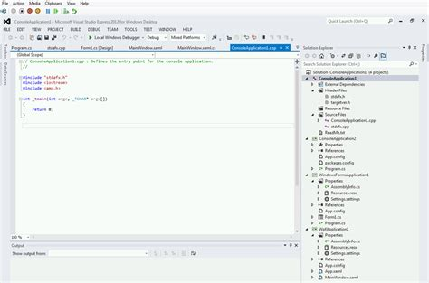 design form visual studio 2012 free visual studio express 2012 for windows desktop