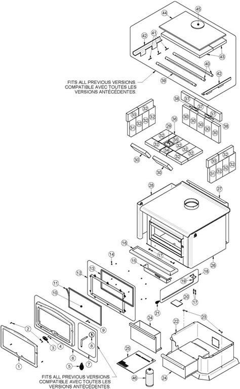 osburn 2400 wood stove parts
