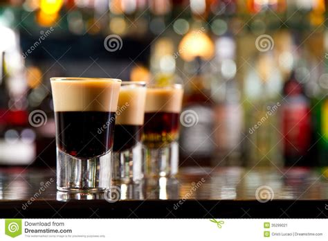 top shots bar shots stock image image 35299021