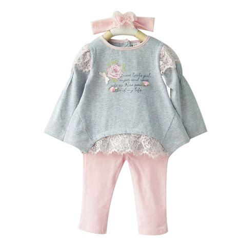 baby clothing sets newborn clothes suits cotton tops toddlers flower headband