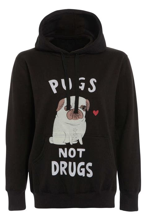Hooded Sweatshirt With Slogan womens hooded jumper slogan hoodie sleeves sweatshirt hoody ebay