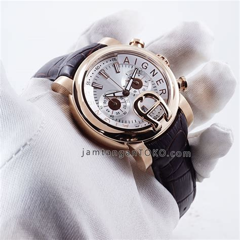 Jam Aigner Verona Rosegold Garde Aaa harga sarap jam tangan aigner bari kulit elegan coklat rosegold