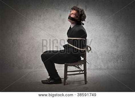 Chair Bound by Businessman Chair Gagged Image Photo Bigstock