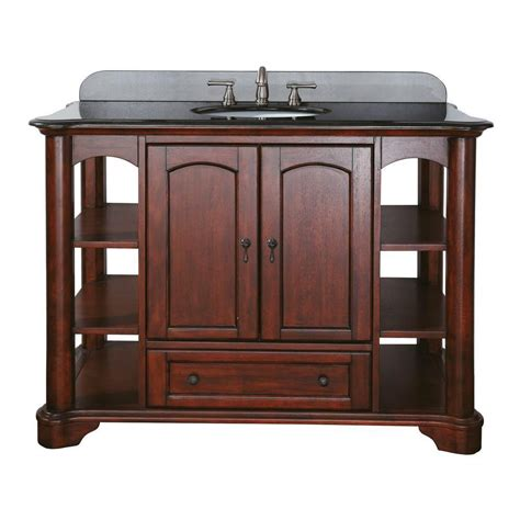 Home Depot Bathroom Vanities 48 Avanity Vermont 48 Inch Vanity In Mahogany Finish Faucet Not Included The Home Depot Canada
